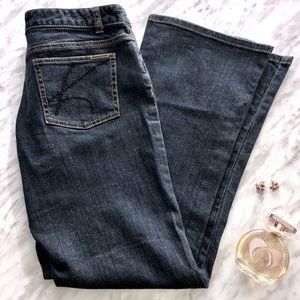 Michael Kors Dark Wash Bootcut Jeans Size 8 Petite